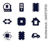 microchip icons set. set of 9... | Shutterstock .eps vector #660572953