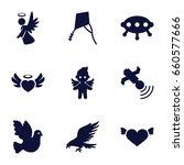 flying icons set. set of 9... | Shutterstock .eps vector #660577666