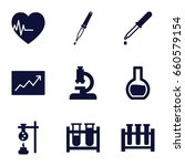 analysis icons set. set of 9... | Shutterstock .eps vector #660579154