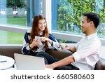 asian charming beautiful... | Shutterstock . vector #660580603