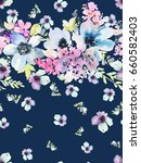 seamless summer pattern... | Shutterstock . vector #660582403
