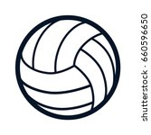 volleyball ball sports activity ... | Shutterstock .eps vector #660596650