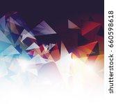 polygon modern background | Shutterstock .eps vector #660598618