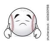 sad face basball cartoon...