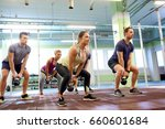 sport  fitness  weightlifting... | Shutterstock . vector #660601684