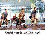 sport  fitness  weightlifting... | Shutterstock . vector #660601684