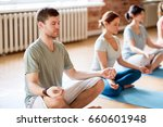 fitness  yoga and healthy... | Shutterstock . vector #660601948