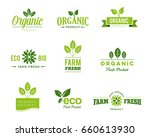 collection of icons of organic  ... | Shutterstock .eps vector #660613930