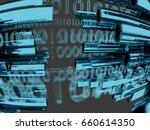 data transfer by optical fibre...   Shutterstock . vector #660614350