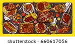 vector illustration  culinary... | Shutterstock .eps vector #660617056