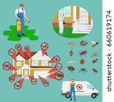 pest control concept with... | Shutterstock . vector #660619174