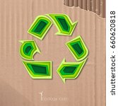 ecological icon of recycling in ... | Shutterstock .eps vector #660620818