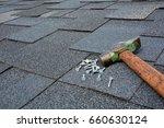 close up view on asphalt... | Shutterstock . vector #660630124