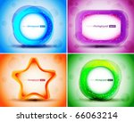 set of abstract colorful circle ...