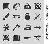 iron icons set. set of 16 iron... | Shutterstock .eps vector #660632344
