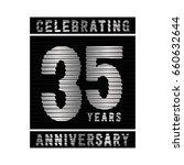 35 years anniversary logo.... | Shutterstock .eps vector #660632644