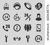 support icons set. set of 16... | Shutterstock .eps vector #660638776
