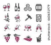 wine icon | Shutterstock .eps vector #660651979