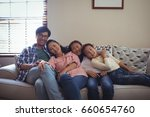 portrait of smiling family... | Shutterstock . vector #660654760