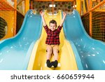 boy riding from childrens... | Shutterstock . vector #660659944