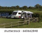 campsite on farmland in the... | Shutterstock . vector #660662848
