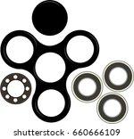 hand spinner flat vector... | Shutterstock .eps vector #660666109