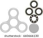 hand spinner flat vector... | Shutterstock .eps vector #660666130