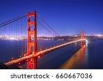 golden gate bridge  san... | Shutterstock . vector #660667036