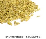 fennel seeds on white background | Shutterstock . vector #66066958