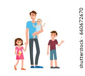 cartoon characters of family.... | Shutterstock .eps vector #660672670