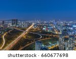 night view from umraniye... | Shutterstock . vector #660677698