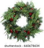 wreath. | Shutterstock . vector #660678634