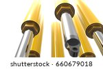 hydraulic system   cylinder and ...   Shutterstock . vector #660679018
