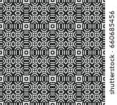 endless black and white... | Shutterstock .eps vector #660685456
