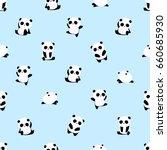 seamless vector pattern  panda... | Shutterstock .eps vector #660685930