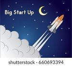 big start up rocket | Shutterstock .eps vector #660693394