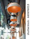restaurant interior | Shutterstock . vector #660696013