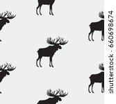 elk pattern art abstract...   Shutterstock . vector #660698674