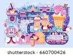 vector illustration business... | Shutterstock .eps vector #660700426