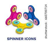 fidget spinner isometric icons... | Shutterstock .eps vector #660700714