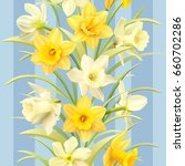 Seamless Pattern With Daffodil...