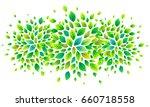 green fresh leaves vector... | Shutterstock .eps vector #660718558