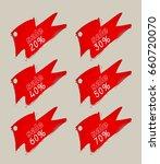 sale tags. 3d rendering. | Shutterstock . vector #660720070