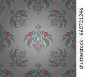 vector seamless pattern in gray ... | Shutterstock .eps vector #660721246