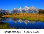 teton mountain range with... | Shutterstock . vector #660726628