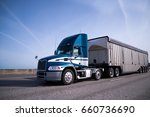 Contemporary Big Rig Blue Semi...