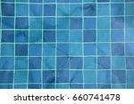 swimming pool tiles under water ...   Shutterstock . vector #660741478