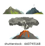 volcano magma nature blowing up ... | Shutterstock .eps vector #660745168