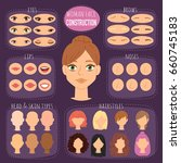 woman character constructor... | Shutterstock .eps vector #660745183