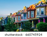 Colorful Row Houses On Guilfor...